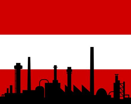 Industry and flag of Austria