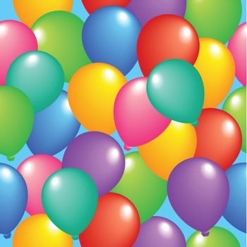 Seamless background with balloons 1 - vector illustration.