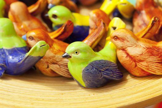 birds made of ceramics