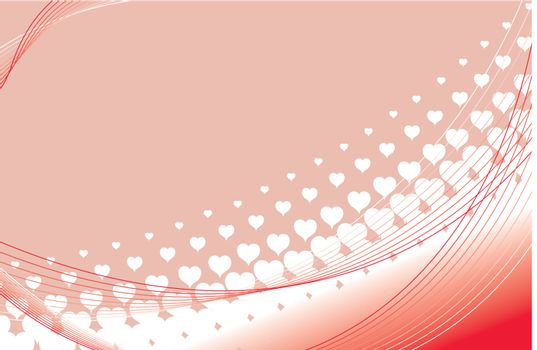 valentines heart halftone background in vector