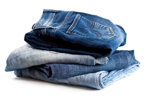 four various jeans