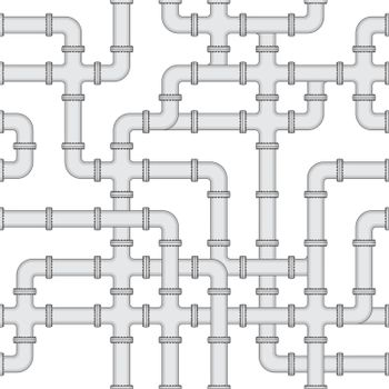 Seamless vector texture - water supply