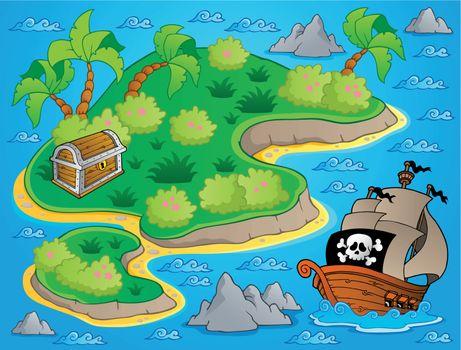 Theme with island and treasure 1