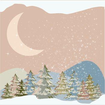 winter lanscape pastel