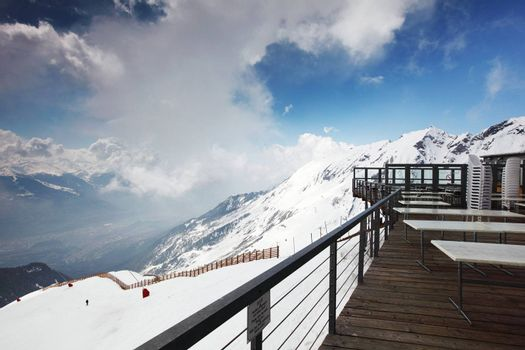 caffe on the top mountain