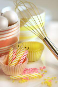 Birthday cake preparations