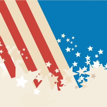 american flag background with grunge stars