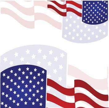 american flag stylized on white background