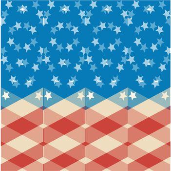 american flag stylised background