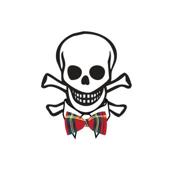 skull with bowtie