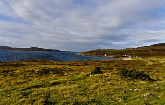 rural scottish scene at the coast