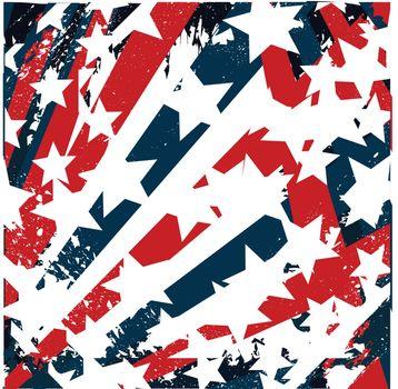 american flag grunge stylized
