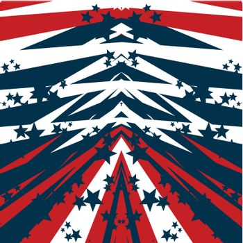 american flag abstract background