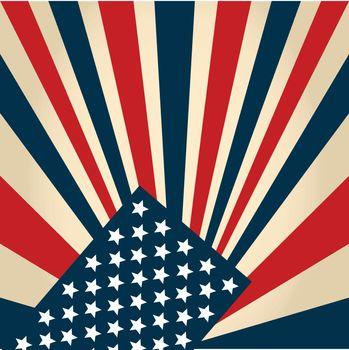 american flag stylised retro