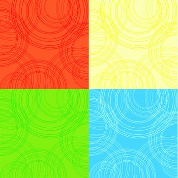 4  backgrounds with circles