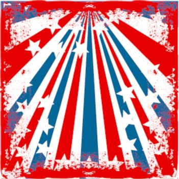 american flag stylied red grunge