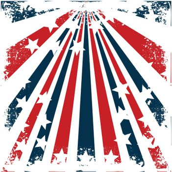 american flag stylized grunge