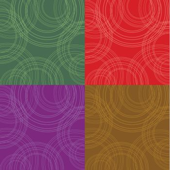 4  backgrounds with circles natural colores