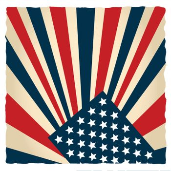 retro american flag stylized