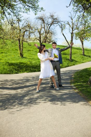 just married in�Park