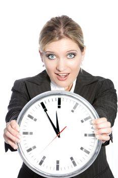 Woman in hurry