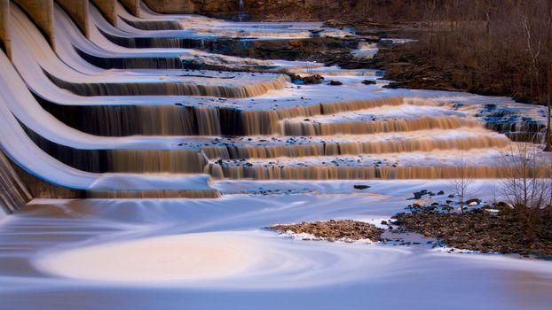 Gold blue falls