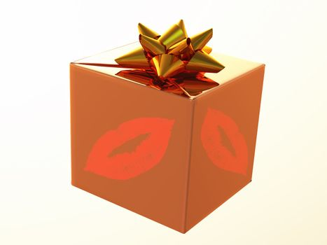 a gift with traces of lipstick