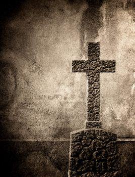 Cross on the European cemetery