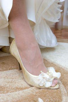 a shoe of the bride