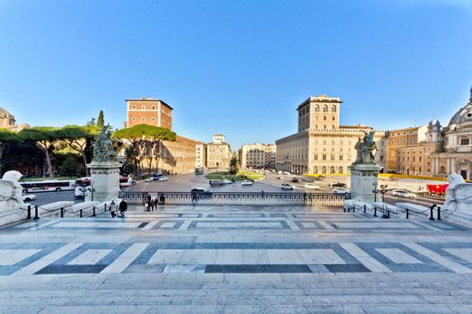 The Monument to Vittorio Emanuele II in Rome, Italy