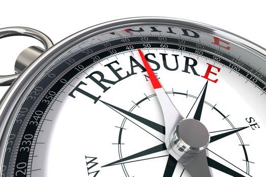 discover the treasure conceptual image