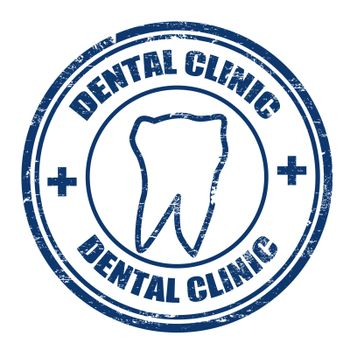 Grunge rubber stamps with the text dental clinic written inside, vector illustration