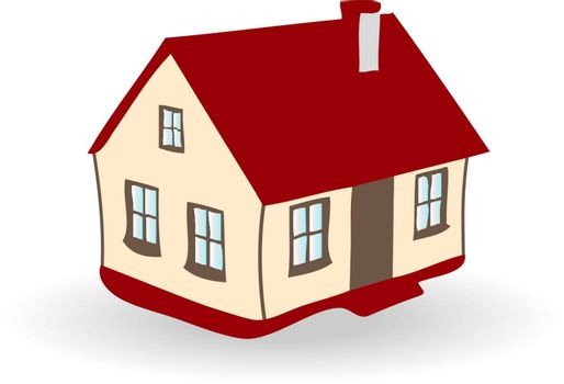Colored EPS vector image of family house