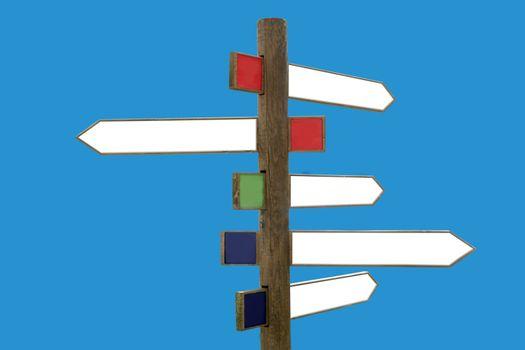 Crossroad wooden directional arrow signs