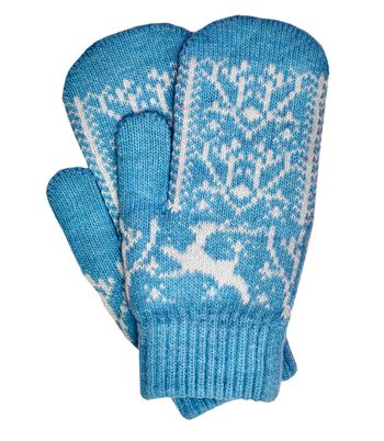 Old-fashioned knitted mittens