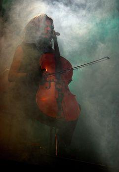 "Concert of cult Finnish group ""Apocalyptica"" Perttu Kivilaakso"