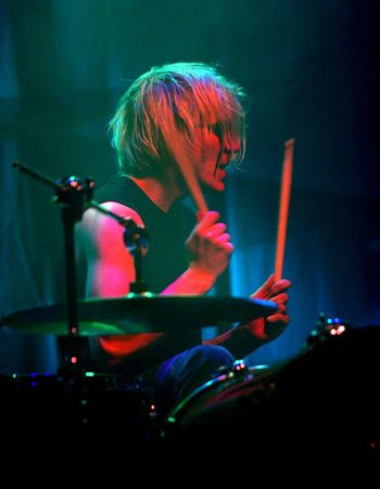 """Concert of cult Finnish group """"Apocalyptica"""" . drummer"""