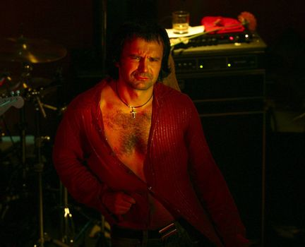 "Known Ukrainian group "" Ocean Elzy "". Svyatoslav Vacarchuk - vocal"
