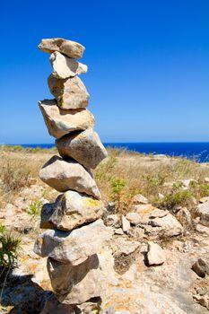 Desire make a wish stacked stones mound