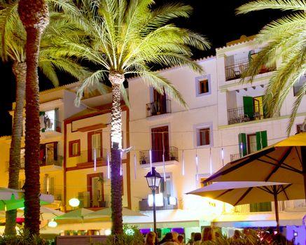 Ibiza island nightlife in Eivissa town