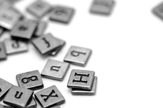 Metal scrapbooking letters