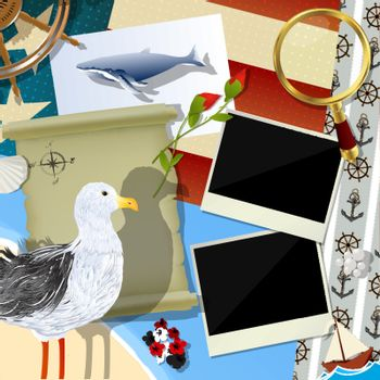 Sailor scrapbook design