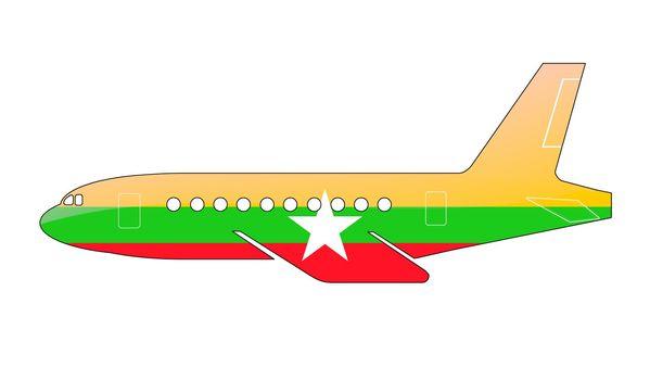 The Myanmar flag