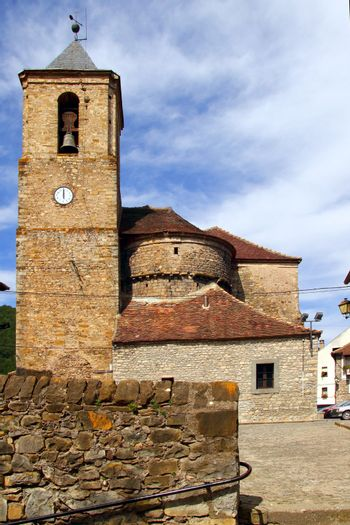 Romanesque cathedral church in Hecho Aragon