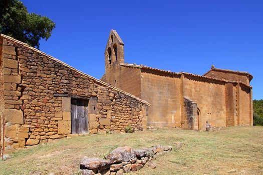 Santa Maria del Concilio romanesque church in Aragon