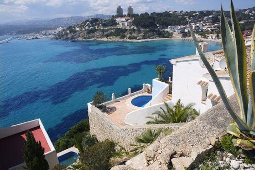 moraira architecture and mediterranean sea