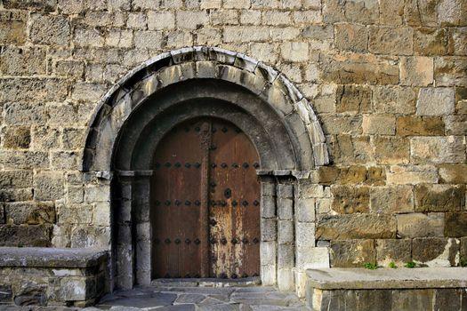 Ancient stone arch romanic architecture