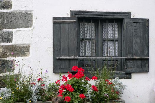 Beautiful stone houses in spanish Pyrenees