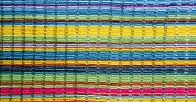 Colorful vibrant fabric color lines like rainbow