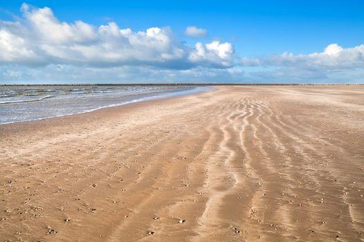 sand beach by North sea